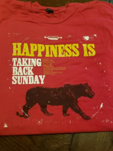 Vtg Taking Back Sunday Happiness Is Emo Pop Punk P