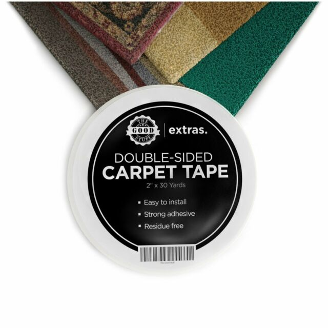 3 Inch x 20 Yards Outdoor Rugs Hardwood Floors Stair Treads White Perfect Rug Gripper for Holding Area Rugs Heavy Duty Double Sided Carpet Tape