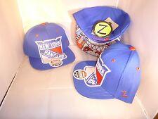 NEW YORK RANGERS NHL BLUE DOUBLE REVERSE BRIM THE MENACE SNAPBACK HAT CAP ZEPHYR