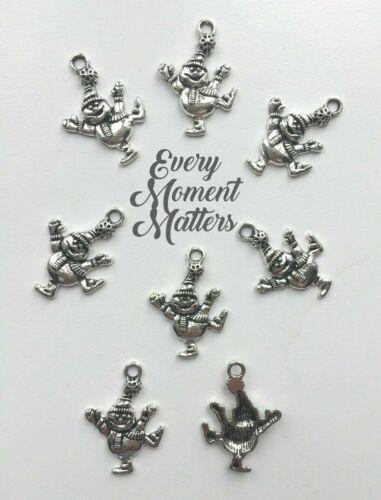 10 x Tibetan Silver SNOWMAN CHRISTMAS SNOWMAN Charm Pendant Beads