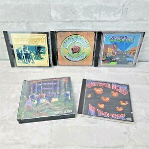 Grateful Dead 5 CD Lot Vintage Albums - In the Dark Workingmans Dead Shakedown
