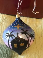Reed /& Barton Blown Glass School House Ornament C4283
