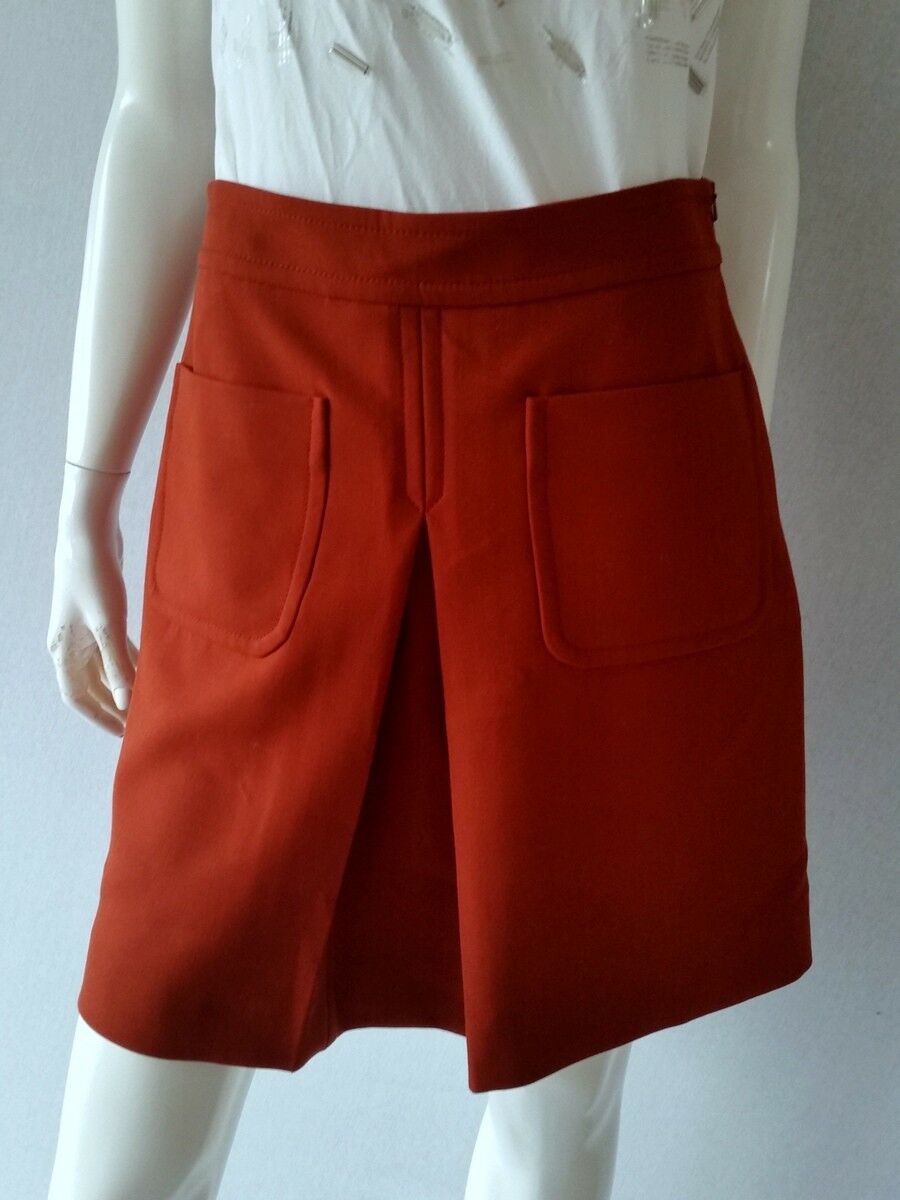 Hallhuber Skirt Double Rust with Mittelfalte Size 36 New