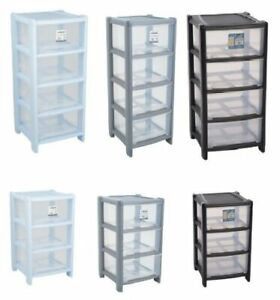 Tower Plastic Draw Storage Unit Office Home School Bedroom Strong 5 Drawer A4
