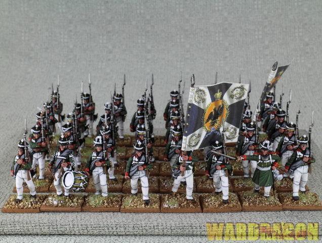 Napoleónicas Wds Pintado rn 20 ruso Infantería Napoleónicas 1809-1814 e70