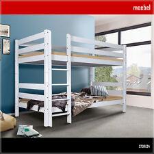 Etagenbett OLI Buche Massivholz weiß lackiert Hochbett Bett Kinderbett