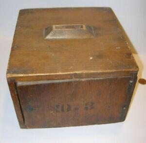 Antique Vintage Primitive Wooden Voting Ballot Box Americana ticket change 8x8