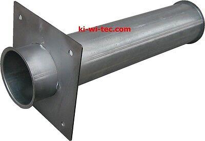 14497 Pelletsrohr - 500 mm DN 100 + Flansch,  Stahl