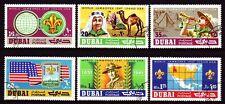 Dubai 1967 mi.286/91 Fine used c.t.o. Boy Scout scouts Scouting