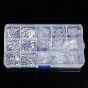 270-piezas-Surtido-Terminales-De-Cable-Electrico-Aislado-crimp-connectors-Spade-F5X2