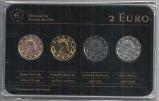 Monaco 2 Euro Prestige Metal Coinset, Gold, Platin, Ruthenium, Neu,OVP,SELTEN