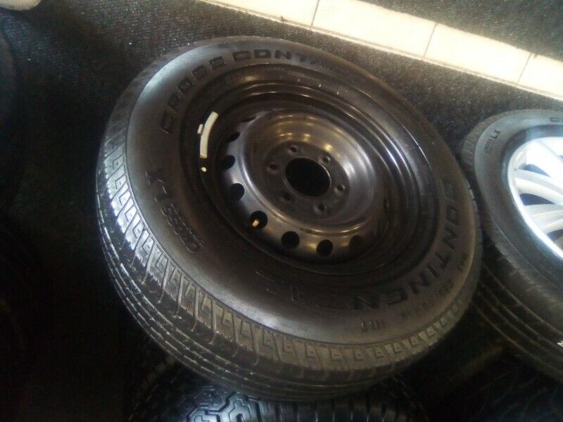 """17"""" Ford Ranger steel rim with 265/65/17 used tyre to use for spare R850."""