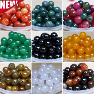 Wholesale-50Pcs-6mm-Natural-Gemstone-Round-Spacer-Loose-Beads-Jewelry-Making