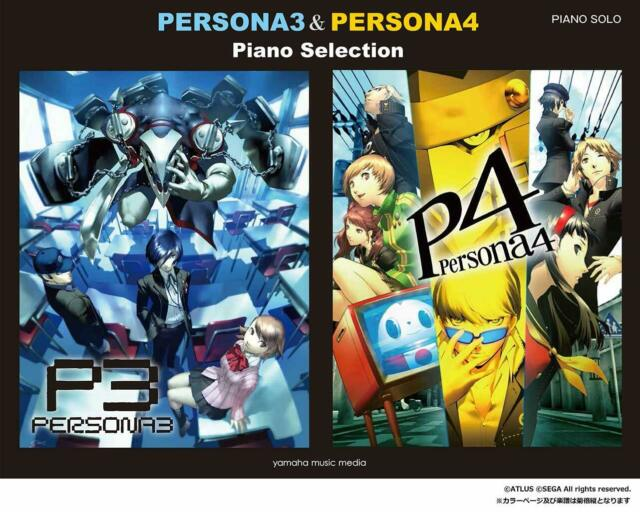 Persona 3 & 4 Piano Solo Sheet Music Book Japan Game Song Soundtrack
