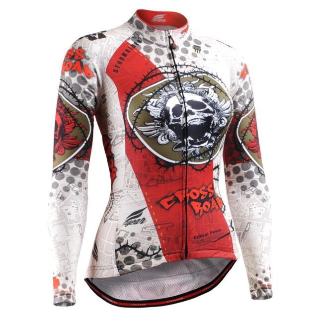 FIXGEAR CS-W501 Women's Long Sleeve Cycling Jersey Bicycle Apparel Roadbike MTB
