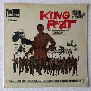 JOHN-BARRY-KING-RAT-ORIGINAL-SOUNDTRACK-1965-UK-12-TRACK-STEREO-VINYL-LP