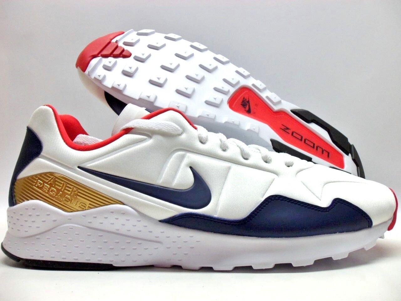 huge selection of e6a67 5021f Nike Air Zoom Pegasus 92 usa usa usa Olympics blanco   navy-Oro reducción de