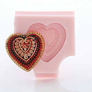 Silicone-Heart-Shaped-Mold-Chocolate-Fondant-Candy-Resin-Polymer-Clay-Mold-843