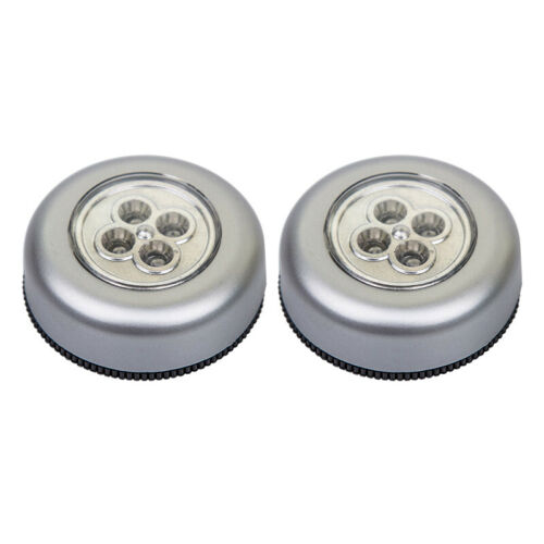 Details about  /4pc 4LED Self-Stick Touch Push Button Light ECO Long Battery Life Down Lights