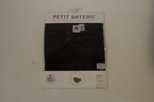 PETIT BATEAU Black Short Sleeve Tee Shirt 72480 Size 16 Years $28 New