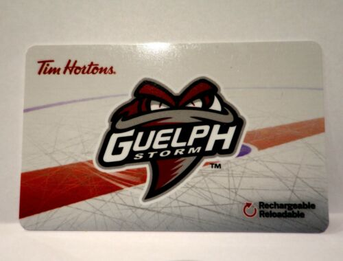 OHL GUELPH STORM 2018//19 Tim Hortons Gift Card Never Used