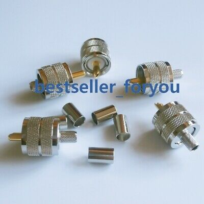 This item is good for Ham Radio system. 10 Packs of PL-259 UHF Male Connector for LR-240 RG-8X Mini 8 Coaxial RF Cable