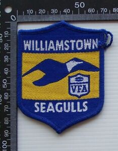 RARE VINTAGE VFA WILLIAMSTOWN SEAGULLS EMBROIDERED WOVEN CLOTH VFL SEW-ON BADGE