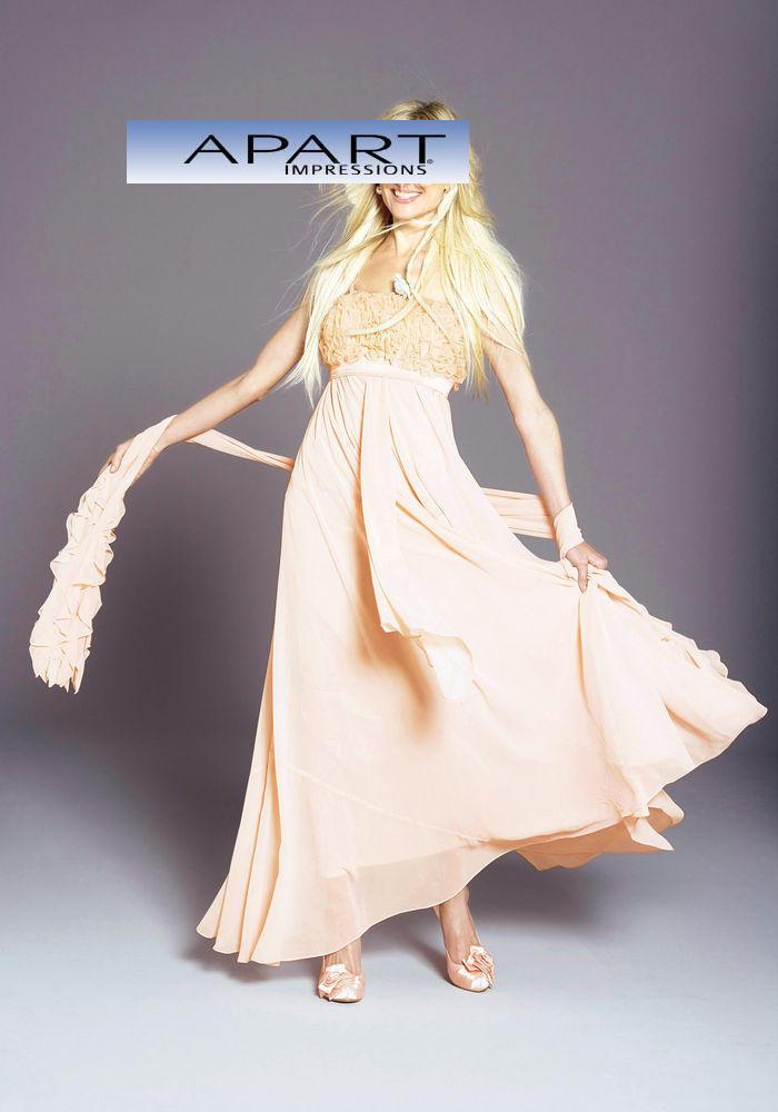 Neu Abendkleid-Brautkleid von Apart apricot Gr.42 Chiffon