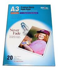 Set of 10 Smooth Glossy Finish Waterproof A3 size Photo Paper 20 Sheets (X10)