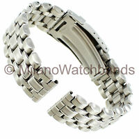 18mm Morellato Silver Tone Stainless Steel Accented Folding Clasp Watch Band