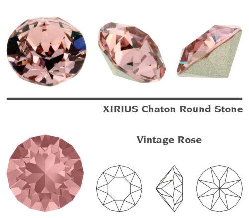 plusieurs couleurs Genuine swarovski 1088 xirius chaton rond déjouée cristaux