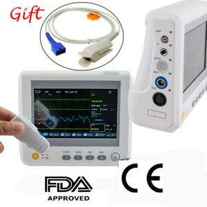 Details about ICU Patient Monitor Monitoring 6parameter  ECG/NIBP/RESP/TEMP/PR 7Pin Finger Clip
