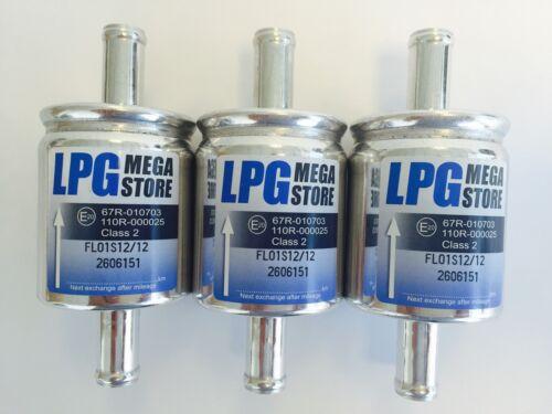 3 unidades filtro autogas respiraderos 16 mm lpg CNG 16//16