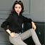 Womens-Satin-Silk-Button-Down-Blouse-Top-Bow-Tie-Neck-Shirt-Long-Sleeve-Zhou8 thumbnail 2