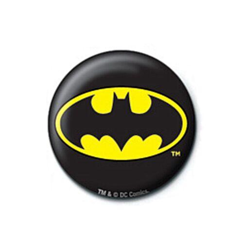 Genuine DC Comics Batman Classic Logo Symbol Button Badge Pin Badge Retro