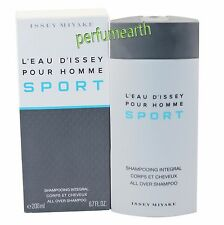 L'eau D'Issey Pour Homme Sport 6.7oz All Over Shampoo by Issey Miyake Men NIB