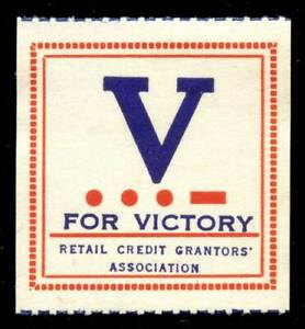 Canada - Patriotic Poster Stamp - WWII - V for Victory Stamp - Type 8