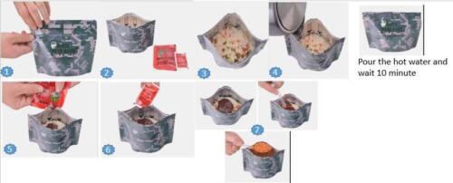 Korean Combat Ration Military MRE Beef Red Pepper paste Bibimbap RICE x 1 pack