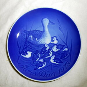 BING /& GRONDAHL 1973 Mother/'s Day Plate Duck with Ducklings B/&G Mothers Day