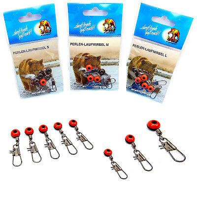 Cormoran Angeln Posen Zubehör Posenadapter mit Wirbel und Glasperlen rot