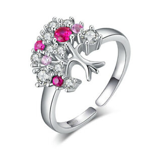 8918381e8c Image is loading JewelryPalace-July-Birthstone-Ruby-Cubic-Zirconia-Tree-Ring -