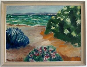 Sommerstimmung-at-the-Beach-Expressionist-1957-Signed-Sv-Bjornsson-1957-Rear