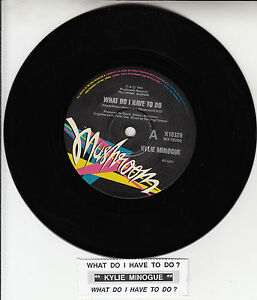 KYLIE-MINOGUE-What-Do-I-Have-To-Do-7-45-rpm-record-juke-box-title-strip