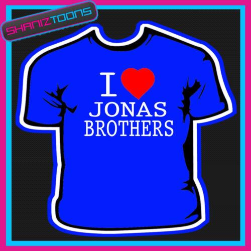 I LOVE HEART JONAS BROTHERS TSHIRT ALL SIZES /& COLOURS