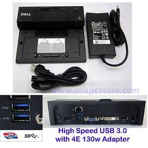 DELL-Docking-Station-pr03x-USB-3-0-E-REPLICATORE-DI-PORTE-pa-4e-adattatore-CA-0-rmytr