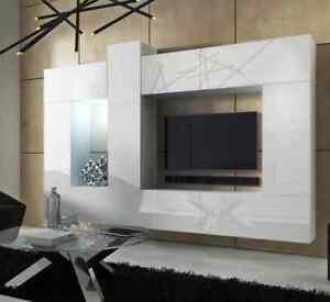 wohnwand h ngend tv wand fernseherschrank concept 22 hochglanz h ngwand ohne led ebay. Black Bedroom Furniture Sets. Home Design Ideas