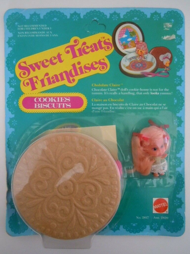 1978 SWEET TREATS FRIANDISES CHOCOLATE CLAIRE KIDDLE COOKIES MIS-SPELLING FRENCH