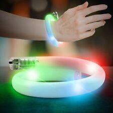 LED Bracelet Rave Glowing Flashing Tube Wristband Party