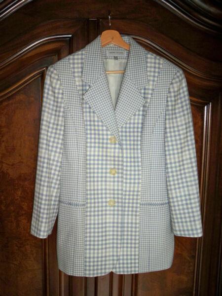 100% De Qualité Blazer In Karo- Und Hahnetritt-design Von Designermarke Ashley Brooke Gr. 36