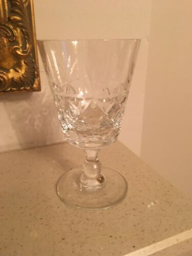 """Wine Glass 4 7//8/"""" Royal BRIERLEY Crystal BRUCE Cut"""